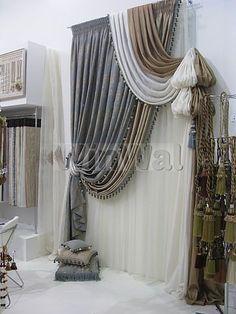 Ассиметричные шторы - фото в интерьере. Заказать дизайн и пошив штор на кухню, в спальню, в гостиную, в детскую в Москве и Санкт-Петербурге