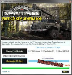 SPINTIRES Free CD Key Generator 2016