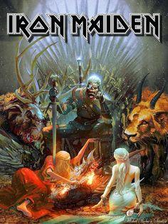 Witcher game of thrones Heavy Metal Art, Heavy Metal Bands, Music Artwork, Metal Artwork, Hard Rock, Iron Maiden Mascot, Iron Maiden Band, Eddie Iron Maiden, Iron Maiden Albums