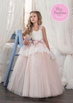 Kids wedding dresses 2017 pentelei with illusion long sleeves and toledo junglespirit Gallery