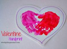 Valentine Handprint Craft - Fun for Valentine's Day Parties and wonderful keepsake.