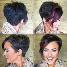 A little pixie 360 for all my short haired lovas! A little pixie 360 for all my short haired lovas! Funky Hairstyles, Pretty Hairstyles, Ladies Hairstyles, Teenage Hairstyles, Layered Hairstyles, Hairstyles 2016, African Hairstyles, Hairstyle Ideas, Haircut And Color