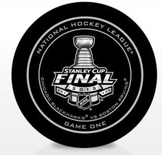 2013 Stanley Cup Finals: Chicago Blackhawks vs. Boston Bruins Official Game 1 Puck
