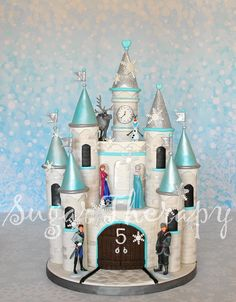 - Frozen castle cake. I want to give a shout out to Shawna McGreevy of McGreevy Cakes for the tutorial on YouTube. (https://www.youtube.com/watch?v=-PsQjihR2m8) She is a true artist! I made some modifications to suit my client.