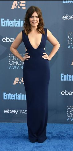 Image result for mandy moore critics choice awards 2017 Critic Choice Awards, Critics Choice, Mandy Moore, Awards 2017, Formal Dresses, Hair, Image, Style, Fashion