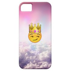 Cloudy Smirk Crown Emoji iPhone Case iPhone 5 Cases