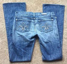 "ROCK & REPUBLIC Women's Medium Wash Bootcut Jeans Size 28 (Waist 34"" Stretch)    eBay"