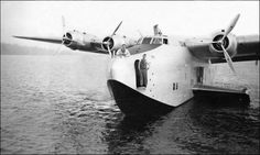 "Prototype Boeing 314 Flying Boat in Lake Washington, WA in 1938 -- prior to becoming the ""Honolulu Clipper"" by Konabish ~ Greg Bishop, via Flickr"