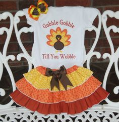 Baby Girl Thanksgiving Outfit Girls Thanksgiving by RuffleDarlings