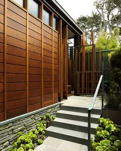 modern exterior by Dirk Denison Architects | wood siding with hints of steel | elegance is fond in simplicity | beautiful facade