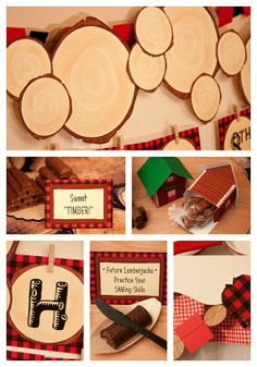 Lumberjack Party Decorations | LUMBERJACK Collection Printable Party Décor | Party Ideas