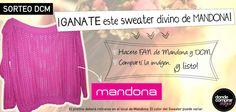 ¡Participá del nuevo Sorteo DCM! ¡Podés ganarte un sweater de Mandona Tienda!  www.dondecomprarmejor.com/mandona  Seguí las consignas, ¡es muy fácil! — con Mandona Shop y mandona tienda.
