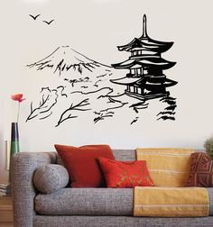 Asian Feng Shui decal decor SHOU LONGEVITY Chinese symbol inspired wall decals