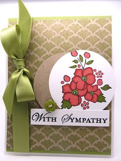 Stampin' Up! Bordering Romance card