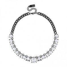Principles by Ben de Lisi Designer crystal set hematite link necklace | Debenhams