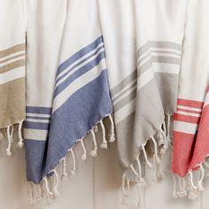Classic Peshtemal (Fouta) - The Turkish Towel Company Towel Set, Marmaris, Decorative Hand Towels, How To Roll Towels, Turkish Cotton Towels, Textiles, Bathroom Towels, Kitchen Towels, The Beach
