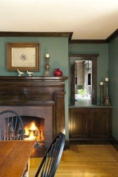 Green Dark Wood Parents RoomPaint TrimBedroom ColorsKitchen StuffCountry KitchensPaint IdeasPaint ColorsThe House