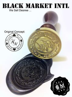 Wax Seal Stamp custom made order  Custom seal by blackmarketintl, $39.99. A must have for the invites!