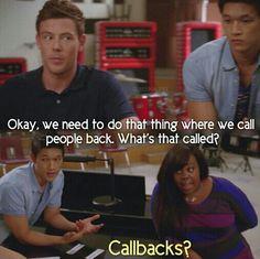 Glee, Finn' s face
