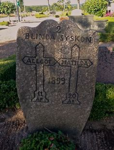 Tombstone Tuesday - Two blind siblings #geneabloggers #genealogy