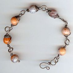 I loved taking the Wire Wrapped Beginnings class at Sew Beadazzled and learning to make a bracelet like this!