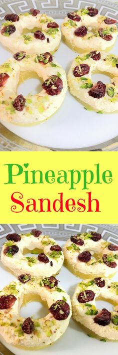 Pineapple Sandesh is a traditional  Bengali sweet dish. Healthy and delightful dessert made of Indian cottage cheese(paneer), pineapple and some nuts.