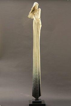 Bronze sculpture of elongated women ~ Michael James Talbot Sculptures Céramiques, Art Sculpture, Angel Sculpture, Looks Cool, Installation Art, Talbots, Amazing Art, Art Dolls, Sculpting