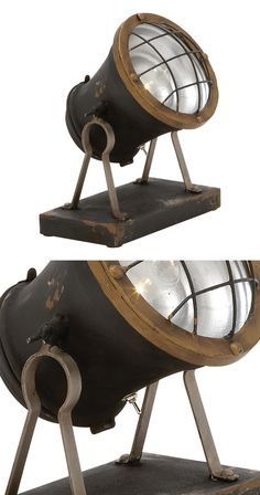 Conversation starter by day, light source by night, our Steampunk Distressed Spotlight might be the hardest working member of your lawn and garden décor. It's brown and gold finish is distressed in all...  Find the Steampunk Distressed Spotlight, as seen in the A Magical Victorian Night Collection at http://dotandbo.com/collections/a-magical-victorian-night?utm_source=pinterest&utm_medium=organic&db_sku=116863