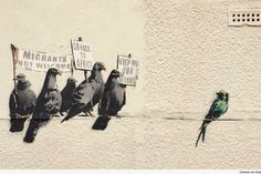 New Banksy and already erased - Clacton-on-Sea, UK - 9/14 (LP)