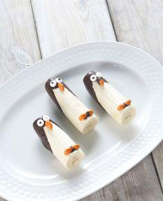 Traktatietip: Pinguïn bananen | Flairathome.nl #FlairNL #trakteren