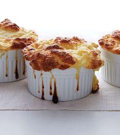 Cauliflower and goat cheese souffles