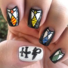 What better way to express your love for Harry Potter than with nail art!