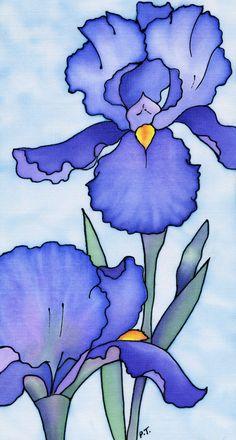 Blue Irises - Pauline Townsend