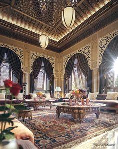 """"""" Oriental Majlis """" on Behance http://www.bykoket.com/projects.php"""