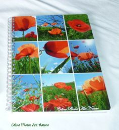 Made in Rosières par celinephotosartnature Celine, Artisanal, Notebook, Nature, Photos, Etsy, Day Planners, Writing Notebook, Poppies