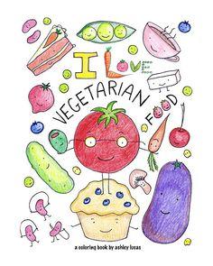 I+Love+Vegetarian Food by+LadyLucasDigitals