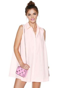 Making Me Blush Shirtdress - Dresses