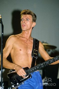 David Bowie performing live in Tin Machine at Brixton Academy, It's My Life Tour, 1991