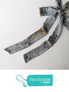 Grey Floral Skinny Scarf, Gray Chiffon Neck Tie, Long Thin Scarf with Angled Ends, Bow Tie Scarf, Choker Scarf, Fashion Accessories, For Her from NaryaBoutique https://www.amazon.com/dp/B01M9G3VLF/ref=hnd_sw_r_pi_dp_6xN-yb739D957 #handmadeatamazon