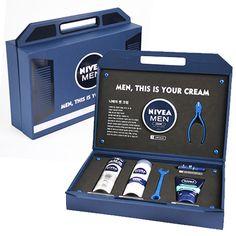 [XYE 니베아맨 공구박스 스페셜 패키지디자인] 화장품 패키지 박스디자인, 지기구조개발, 기업프로모션 박스제작 : 네이버 블로그 Skincare Packaging, Tea Packaging, Luxury Packaging, Bottle Packaging, Cosmetic Packaging, Beauty Packaging, Print Packaging, Pos Design, Gift Box Design