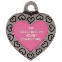 TagWorks Designer Collection Personalized Small Heart ID Tag - PetSmart