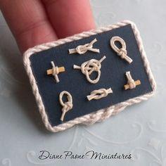 Nautical miniature knot board.