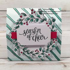 libbystamps, stampin up, Watercolor Christmas, Watercolor Christmas Project Kit, TSOT
