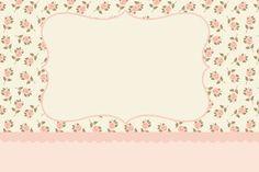 Floral Rosa – Kit Completo com molduras para convites, rótulos para guloseimas, lembrancinhas e imagens!  Fazendo a Nossa Festa
