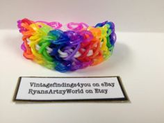 Colorful Glitter Arrow Stitch Rainbow Loom Bracelet Rubber Band | eBay