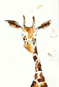'Abigail' sketchbook image #giraffe #watercolor