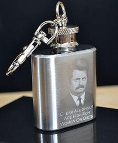 Liquid Courage St.Steel mini Hip flask www.engravedmemories.co.uk