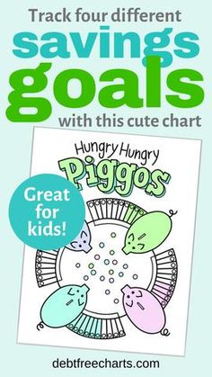 Hungry Hungry Piggos – Debt Free Charts Savings Goal, I Wish You Well, Debt Tracker, Sinking Funds, Free Charts, How Can I Get, Budget Binder, Hungry Hungry, Local Library
