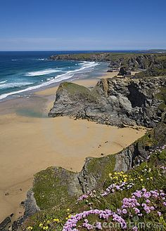 Beautiful beach in Cornwall, UK.