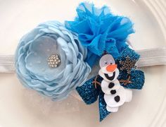 Frozen Olaf headband by JensBowdaciousBows on Etsy, $19.95